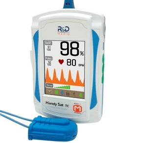 Oxímetro de Pulso Portátil c/ Curva Handsat TC - R&D Mediq