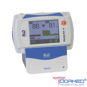 Oxímetro de Pulso Portátil de Mesa com Curva Pletismográfica (Bateria Recarregável + Carregador) Handy Sat TC R&D Mediq
