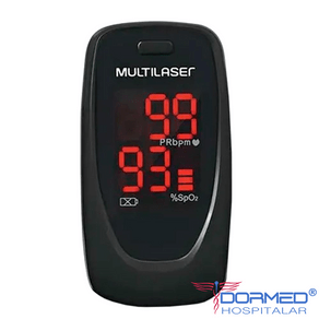 Oxímetro de Pulso Portátil de Dedo s/ Curva - Oxygen Check - Multilaser